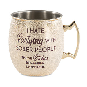 Partying by My Kinda Girl - 20 oz Stainless Steel Moscow Mule