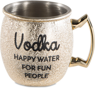Happy Water by My Kinda Girl - 2 oz Stainless Steel Moscow Mule Shot Glass