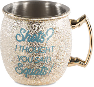 Shots? by My Kinda Girl - 2 oz Stainless Steel Moscow Mule Shot Glass