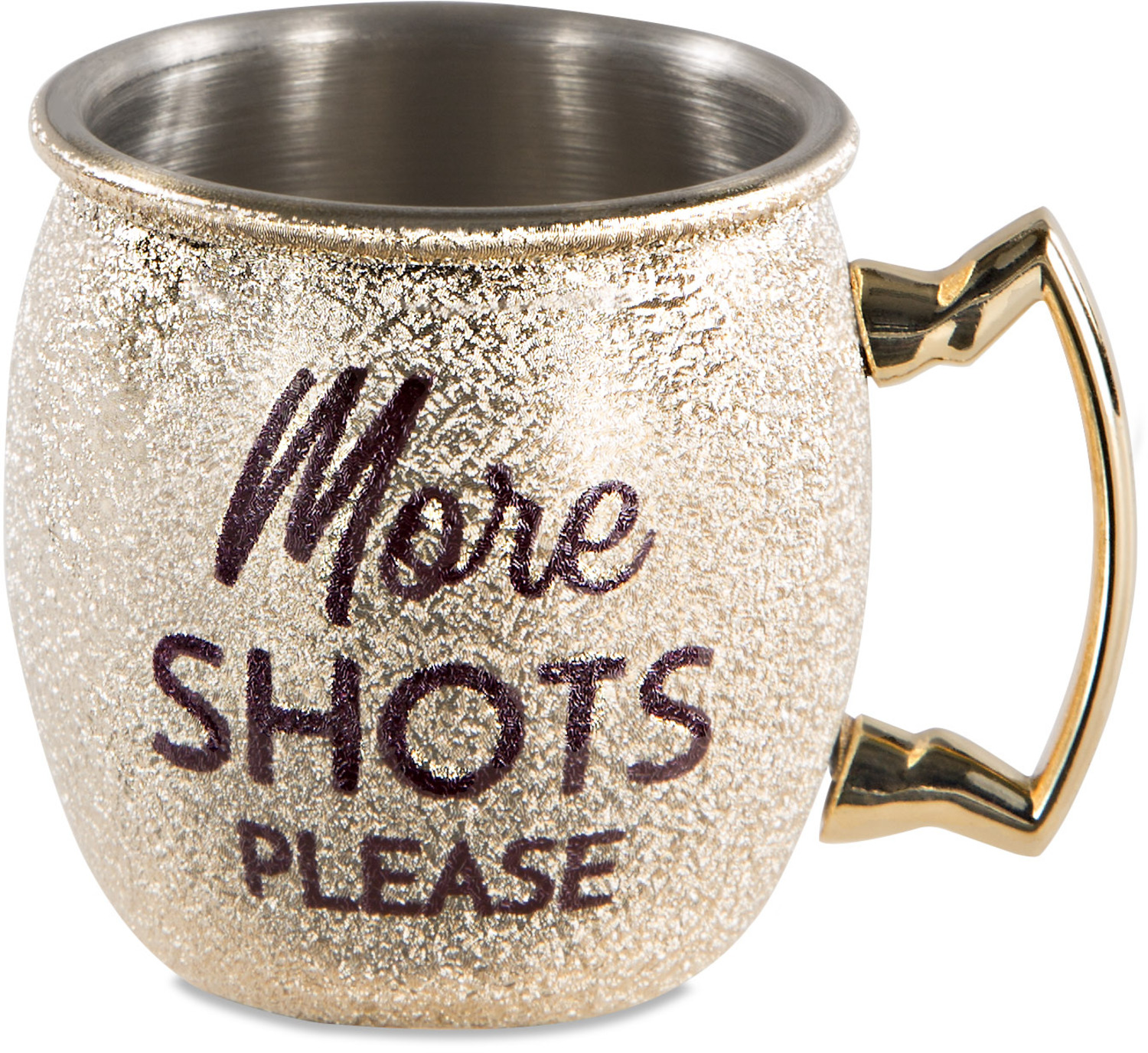 More Shots by My Kinda Girl - More Shots - 2 oz Stainless Steel Moscow Mule Shot Glass