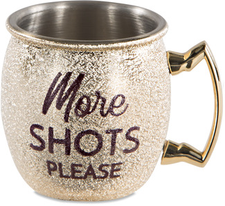 More Shots by My Kinda Girl - 2 oz Stainless Steel Moscow Mule Shot Glass
