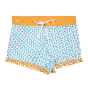 Sporty Girl by My Kinda Girl - S Blue Ladies Lounge Shorts