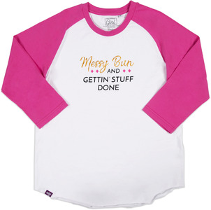 Boss Girl by My Kinda Girl - M - 3/4 Length Sleeve Ladies T-Shirt