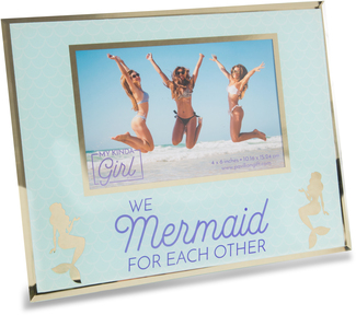 "Mermaid by My Kinda Girl - 9.25"" x 7.25"" Frame (Holds 6"" x 4"" Photo)"