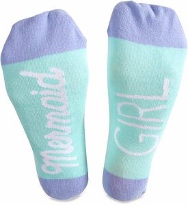 Mermaid Girl by My Kinda Girl - Ladies Cotton Blend Sock