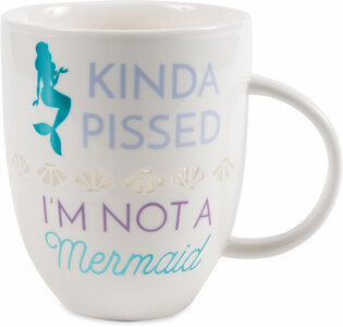 Kinda Pissed by My Kinda Girl - 24 oz Pierced Porcelain Cup