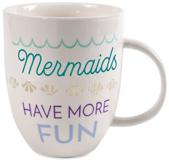 Mermaids by My Kinda Girl - 24 oz Pierced Porcelain Cup