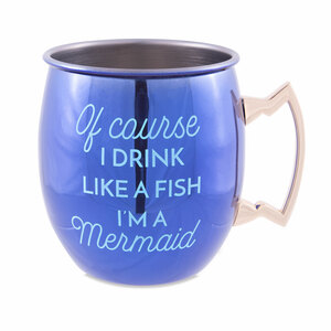 Mermaid  by My Kinda Girl - 20 oz Stainless Steel Moscow Mule