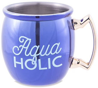 Aquaholic by My Kinda Girl - 2 oz Stainless Steel Moscow Mule Shot