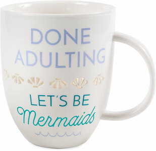 Done Adulting by My Kinda Girl - 24 oz Pierced Porcelain Cup