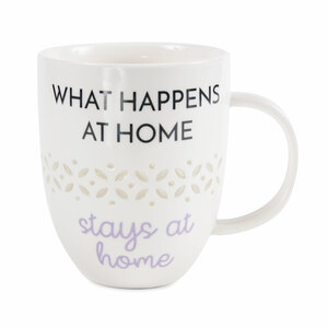 Stays at Home by My Kinda Girl - 24 oz Pierced Porcelain Cup