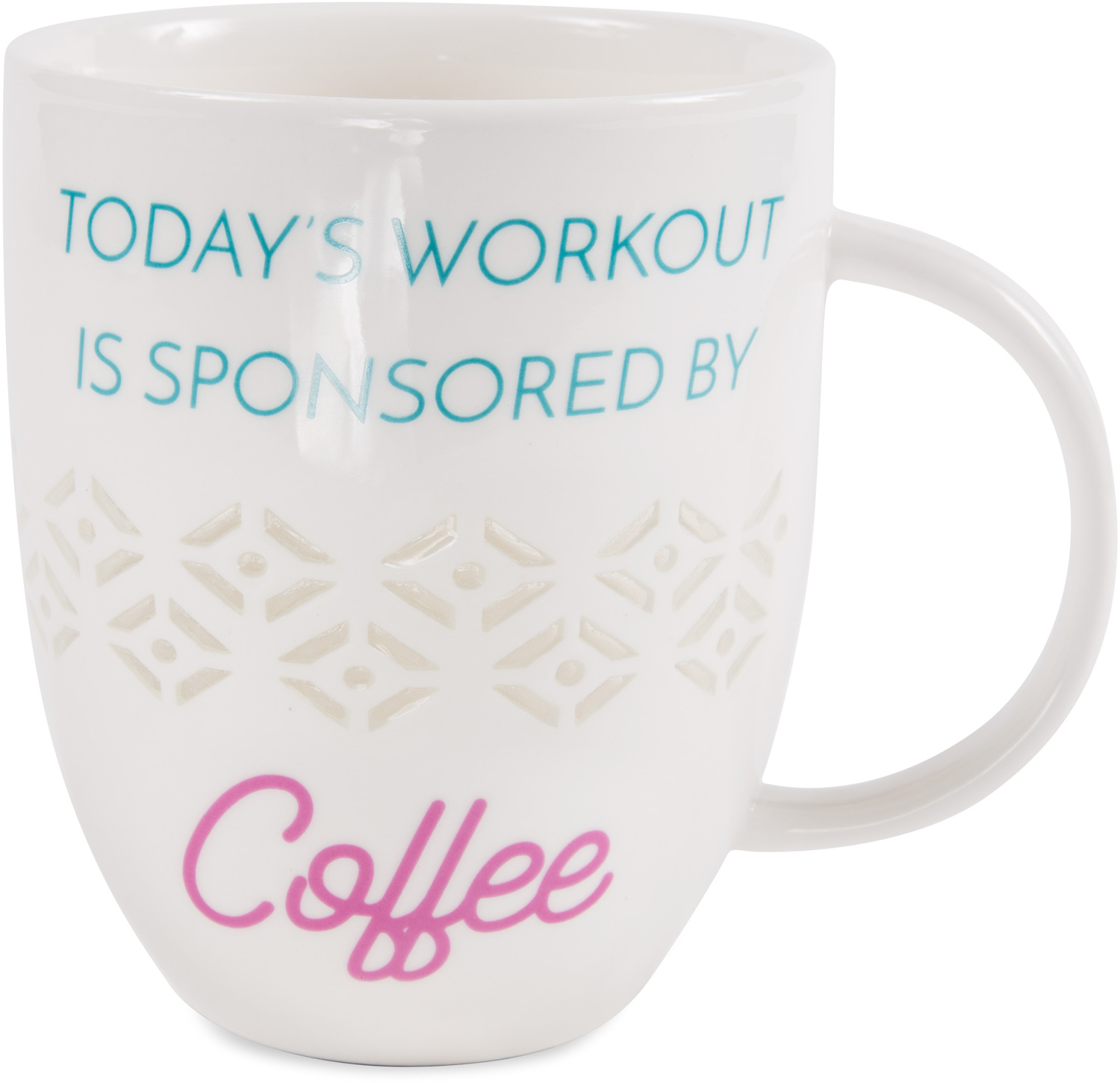 Today's Workout by My Kinda Girl - Today's Workout - 24 oz Pierced Porcelain Cup