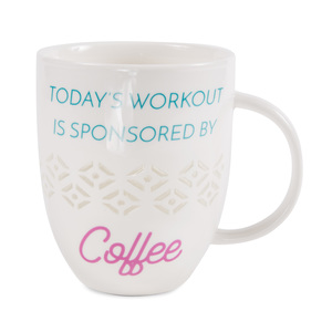 Today's Workout by My Kinda Girl - 24 oz Pierced Porcelain Cup