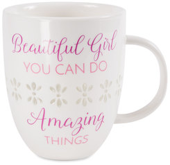 Beautiful Girl  by My Kinda Girl - 24 oz Pierced Porcelain Cup
