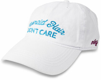 Mermaid Hair by My Kinda Girl - White Adjustable Hat