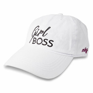 Girl Boss by My Kinda Girl - White Adjustable Hat