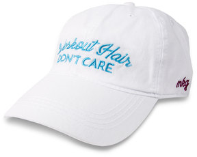 Workout Hair by My Kinda Girl - White Adjustable Hat