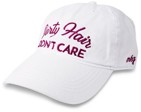 Party Hair by My Kinda Girl - White Adjustable Hat