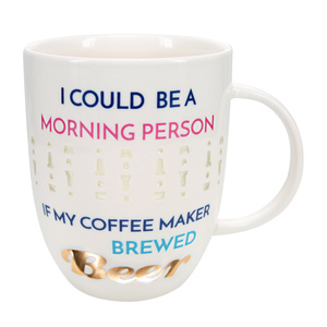 Brewed Beer by My Kinda Girl - 24 oz Pierced Porcelain Cup