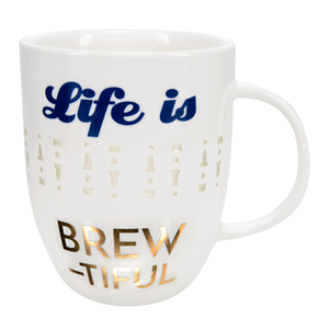 Brewtiful by My Kinda Girl - 24 oz Pierced Porcelain Cup