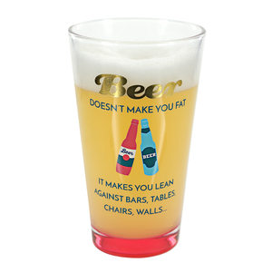 Makes You Lean by My Kinda Girl - 16 oz Pint Glass Tumbler