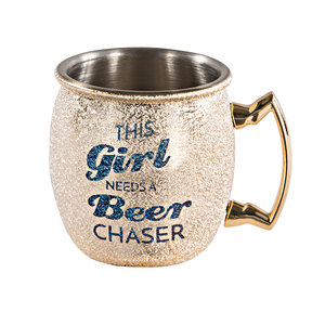 This Girl by My Kinda Girl - 2 oz Stainless Steel Moscow Mule Shot Glass