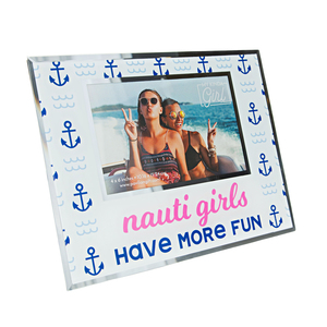 "Nauti Girl by My Kinda Girl - 9.25""x7.25"" Frame (Holds 6"" x 4"" Photo)"