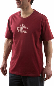 Country People by We People - Small Red Unisex T-Shirt