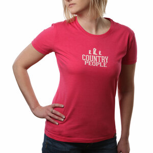 Country People by We People - Small Pink Women's T-Shirt