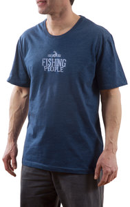 Fishing People by We People - Large Navy Unisex T-Shirt