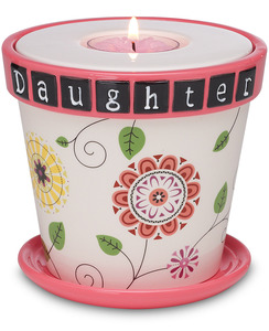 "Daughter w/TL by Groovy Garden - 4"" Tea Light Holder/Planter"