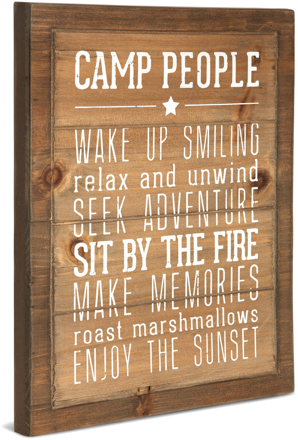 Camp People Rules by We People - <em>Camp</em> - Wood Sign/Wall Art -
