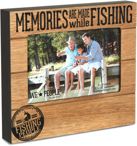 "Fishing People by We People - 6.75"" x 7.5"" Frame (holds 4"" x 6"" photo)"