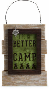 "Camping People by We People - 5.25"" Self Standing or Hanging Plaque"