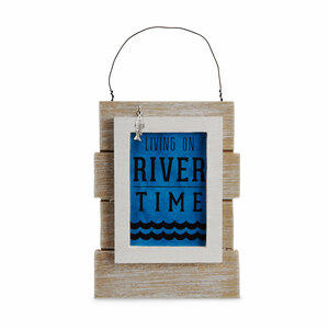"River People by We People - 5.25"" Self Standing or Hanging Plaque"