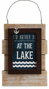 "Lake People by We People - 5.25"" Self Standing or Hanging Plaque"