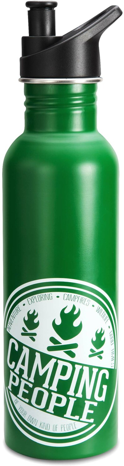 Camping People by We People - Green Stainless Steel Camping Water Bottle 26 oz