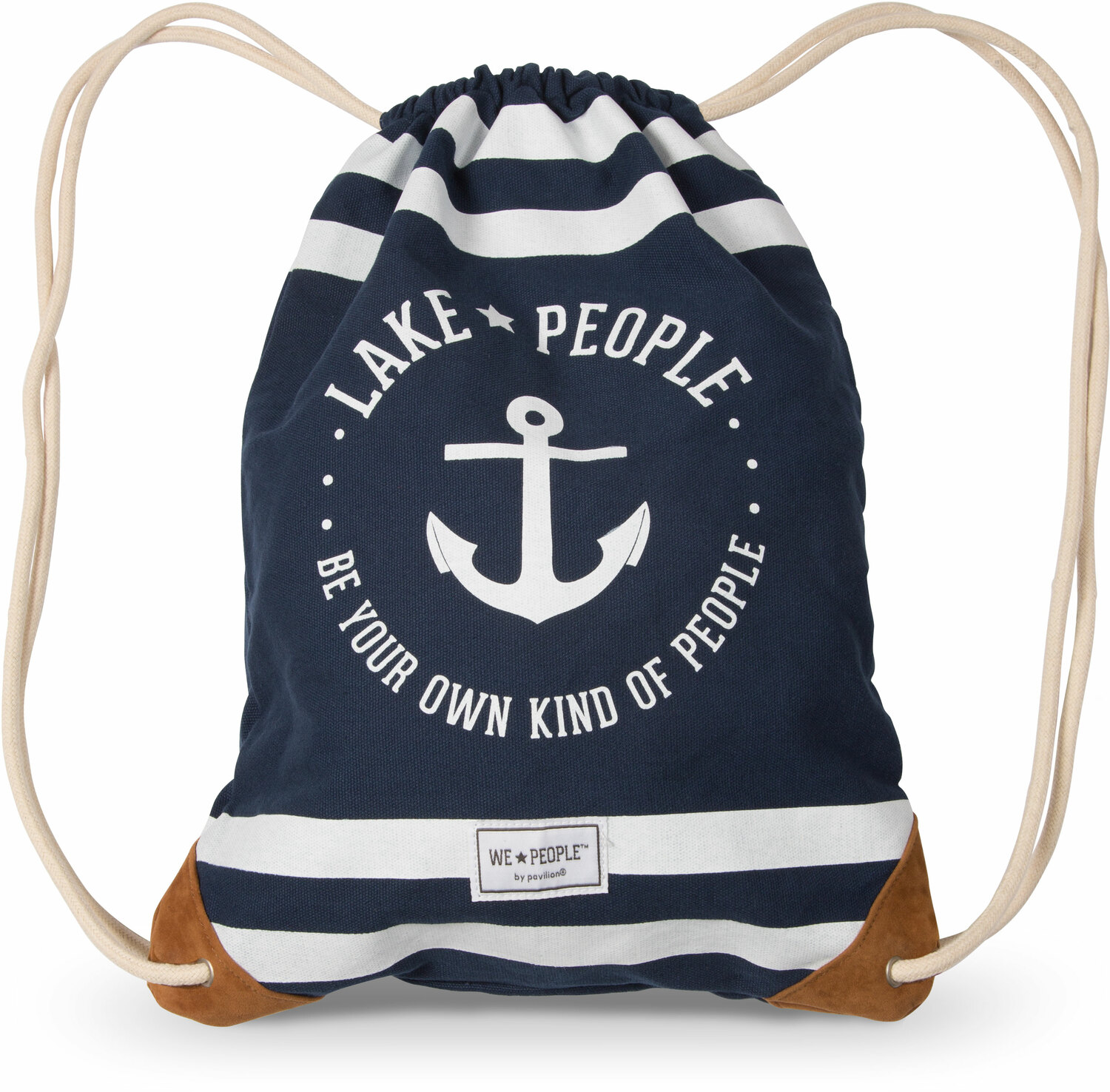 "Lake People by We People - Lake People - 13"" x 17"" Canvas Drawstring Bag"
