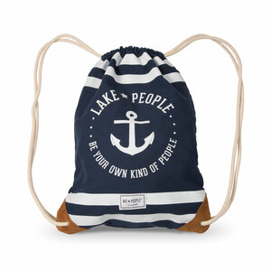 "Lake People by We People - 13"" x 17"" Canvas Drawstring Bag"