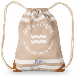 "Beach People by We People - 13"" x 17"" Canvas Drawstring Bag"