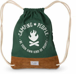 "Camping People by We People - 13"" x 17"" Canvas Drawstring Bag"