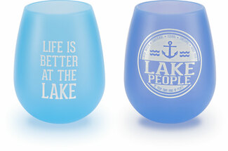 Lake People by We People - 13 oz Silicone Wine Glasses (Set of 2)