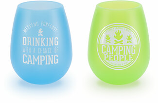 Camping People by We People - 13 oz Silicone Wine Glasses (Set of 2)