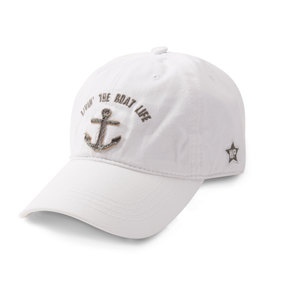 Livin' The Boat Life by We People - White Adjustable Hat