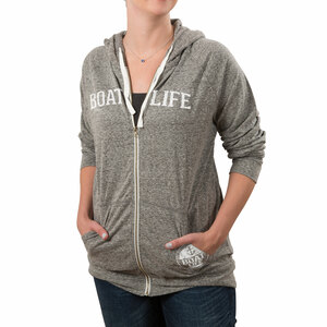 Boat Life by We People - Small Dark Gray Unisex Hooded Sweatshirt