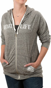 Boat Life by We People - Large Dark Gray Unisex Hooded Sweatshirt