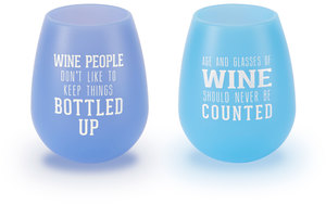 Wine People by We People - 13 oz Silicone Wine Glasses (Set of 2)