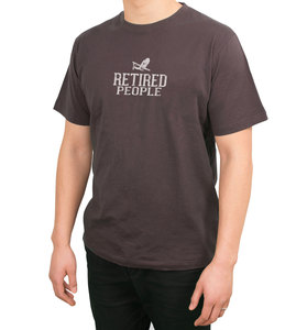 Retired People by We People -  Small Charcoal Unisex T-Shirt