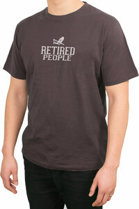 Retired People by We People - Medium Charcoal Unisex T-Shirt