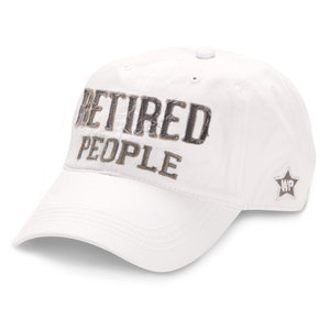 Retired People by We People - White Adjustable Hat
